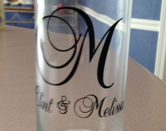 Monogram Vase - use for weddings, receptions, or just home decor