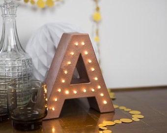 freestanding marquee letter light light up letter monogram letter numbers ampersand lights initial light