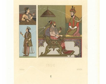 Antique Original Costume Print from Firmin didot's publication- First Edition- Costume of Africa -  Matted large size -Renaissance