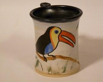 ADORABLE TOUCAN MUG,   Nature Lovers Mug, Jungle Mug, Unique Mug, Bird Mug, Zoo Mug