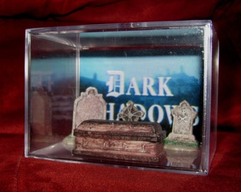 Dark Shadows Collectible Coffin/Tombstone display/NEW