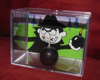 "L@@k~""Boris"" Display with Bomb !!! bomb sits inside (New) Acrylic Case.....**We Combine Shipping**"