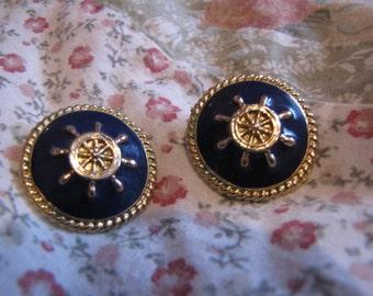 Nautical Sailor Vintage Earrings