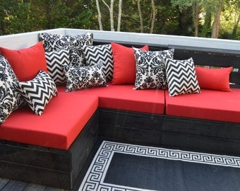 Cushion Cushions for Pallet Crate Chair Bench Furniture ~ Indoor Outdoor Fabrics ~ Made to Your Specific Needs