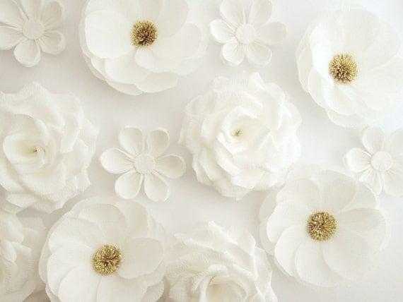 12 paper flowers wall flowers arch flowers wedding decoration il570xn mightylinksfo