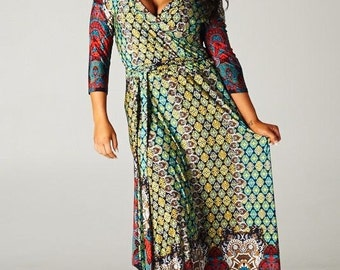 Multi Color Plus Women's Maxi