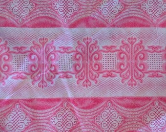 Pink & white fat quarter