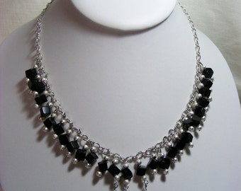 Black and Silver Jewellery Set