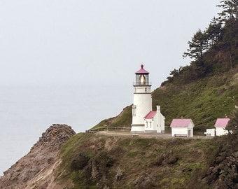 Lighthouse Photo, Oregon Coast Photo, Fine Art Image, Heceta Head Lighthouse Photo,
