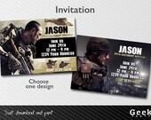 Call of Duty Advanced Warfare Party Invitation - Printable - Choose your design