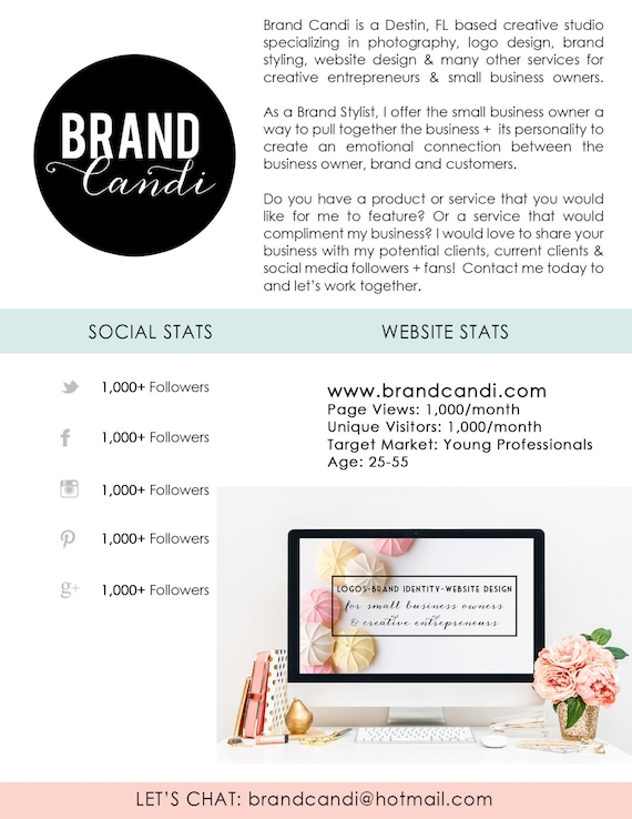 Media kit template press kit digital media kit by brandcandi for Digital press kit template free