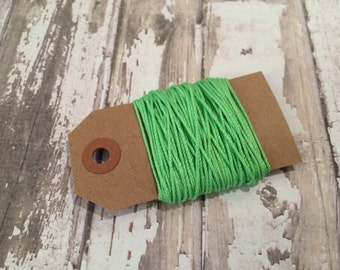 10 yards of Solid Lime Green Baker's Twine