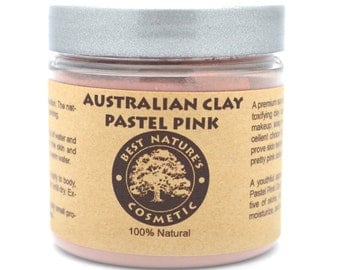 Australian Pastel Pink Clay for stressed, mature skin, helps to refine delicate lines, moisturize, and improve overall texture of the skin.