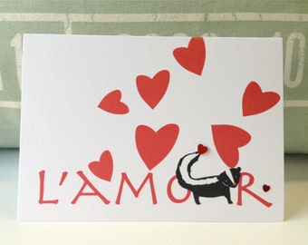 Funny Valentine's Day Card .  Love Card . Anniversary Card . Valentine Card . Boyfriend Valentine Card - L'amour