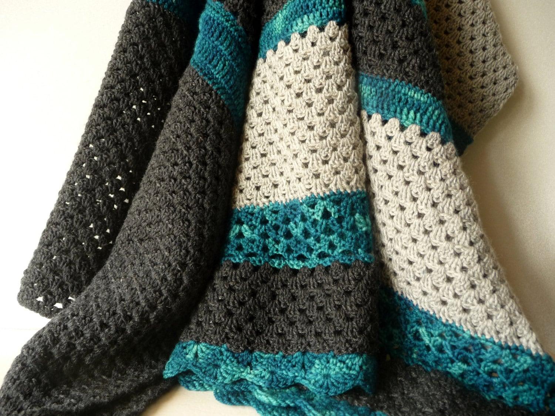 Modern Crochet Baby Blanket Natural Baby Boy Blanket Baby