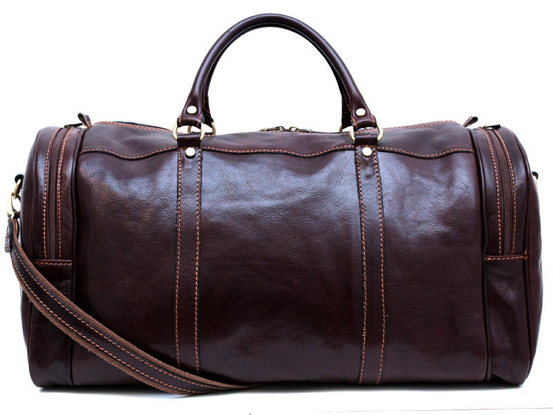 mens leather duffle bag black brown shoulder bag travel bag. Black Bedroom Furniture Sets. Home Design Ideas