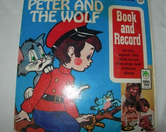 Peter And The Wolf Peter Pan Read Along Book With 45 RPM Record