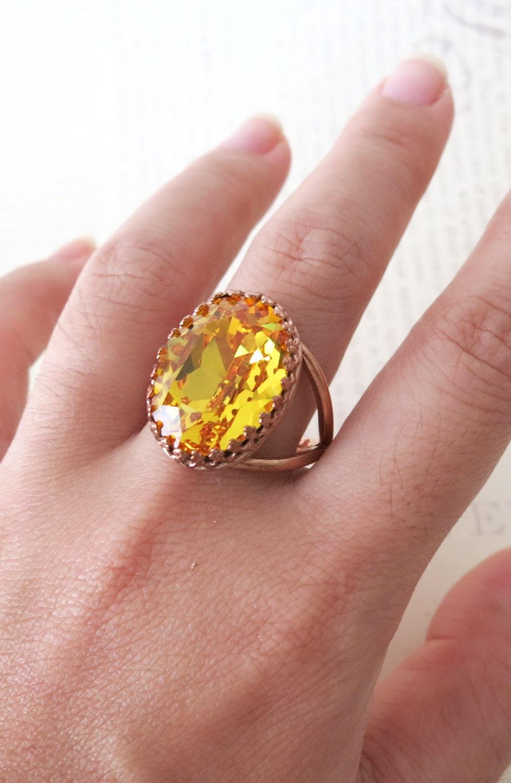 Swarovski Sunflower Ring