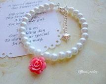 Flower Girl Bracelet, Flower Girl Gift, Pearl Flower Girl Bracelet, Pearl Childrens Bracelet, Pearl Childs Bracelet, Pearl Kids Bracelet