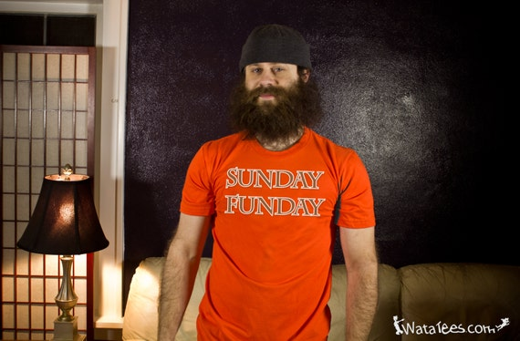 Sunday Funday Brown and Orange