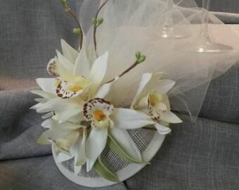 Beach Wedding Orchid Fascinator