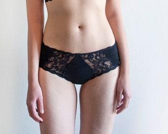 Black Lace Panties. Sheer Panties. Lace Lingerie. Black Panties. Black Lingerie. Women's Underwear
