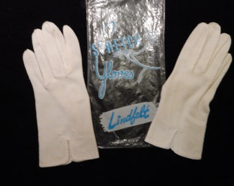 Vintage White Nylon Evening Gloves