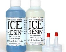 New! ICE Resin Jewelers Grade Crystal Clear Casting Epoxy 16oz Refill Kit Bottles