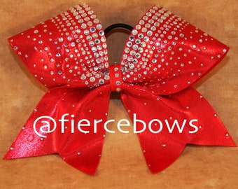 The Crowning Touch Rhinestone Bow in Red