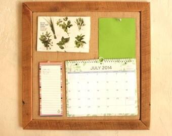 Burlap Bulletin Board with barn wood frame- Home Office Wall Organization