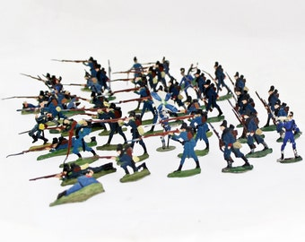 48 Antique German Tin Soldiers Lead Soldiers Bavarian Army / Heinrichsen Germany