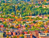 """Allegheny West by Manchester East: a """"GigaBurgh"""" painting by Meg Dooley (2014)"""