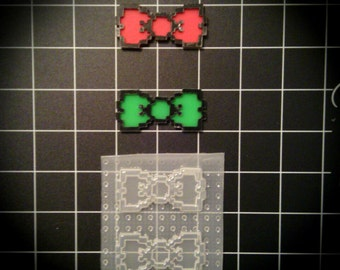 Pixel Bow Nerd Geek Gamer Digital Resin Mold