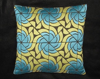 "Knoll Textiles Accent Pillow -  Mid-Century Modern Design - 17"" x 17"" feather/down insert included"