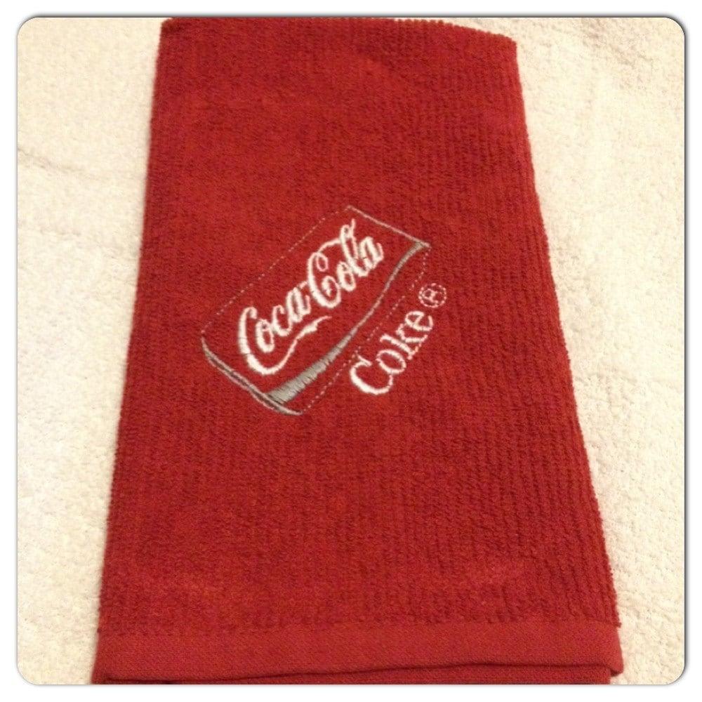 Coca-Cola Dish Towel Home Decor Kitchen Coke by YarnPlusThread