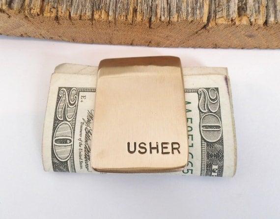 Wedding Favors For Usher Mens Accessories Husband Moneyclip