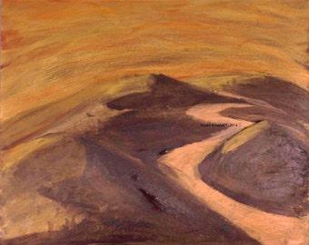 Tail of the Dragon - Original Acrylic Paintiing