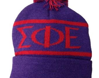 Sigma Phi Epsilon SigEpKnit Beanie Pom Winter Hat