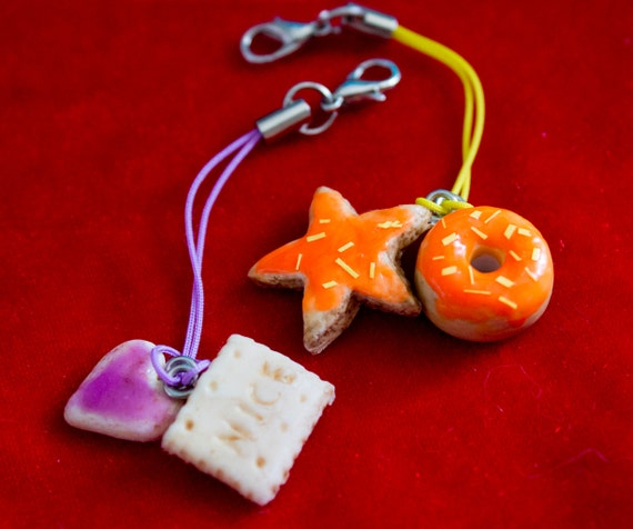 Cookies and Donuts - Miniature Food Jewelry Keyrings