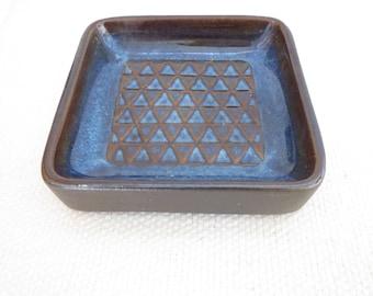 Vintage Danish Design Midcentry Pottery Soholm Blue