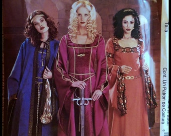 McCall's P306  Misses' Medieval Costumes Size (14-20)  UNCUT