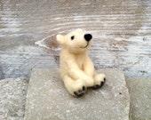 Polar bear, soft skulptur,mini bear in ice bear white, brown ore black