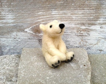 Polar bear, soft skulptur,mini bear in ice bear white, brown ore black