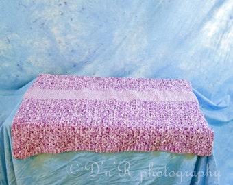 Snuggly soft baby afghan in purple