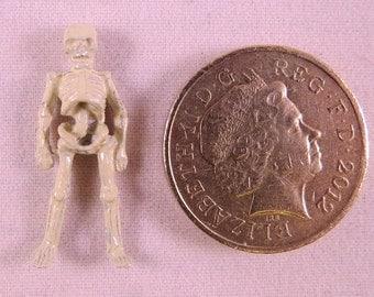 Tiny Hand Painted Metal Dolls House Miniature Skeleton