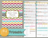 "Direct Sales Planner {Printable} Set - Sized Large 8.5"" x 11"" PDF"