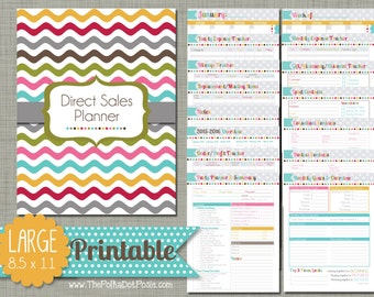 "Direct Sales Planner {Printable} Set - Sized Large 8.5"" x 11"" PDF"