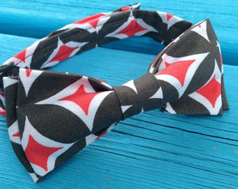 Black, Red and White Adjustable Baby/Toddler/Child's Bowtie