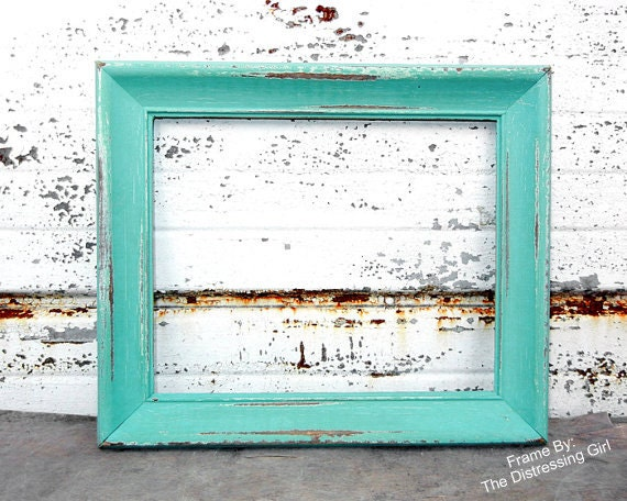 One 8x10 Rustic Frames Wood Distressed Picture Frame Wedding