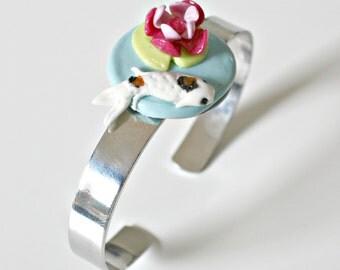 Cold porcelain, carp Koï bracelet
